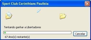 Corinthians tentando ganhar a Libertadores